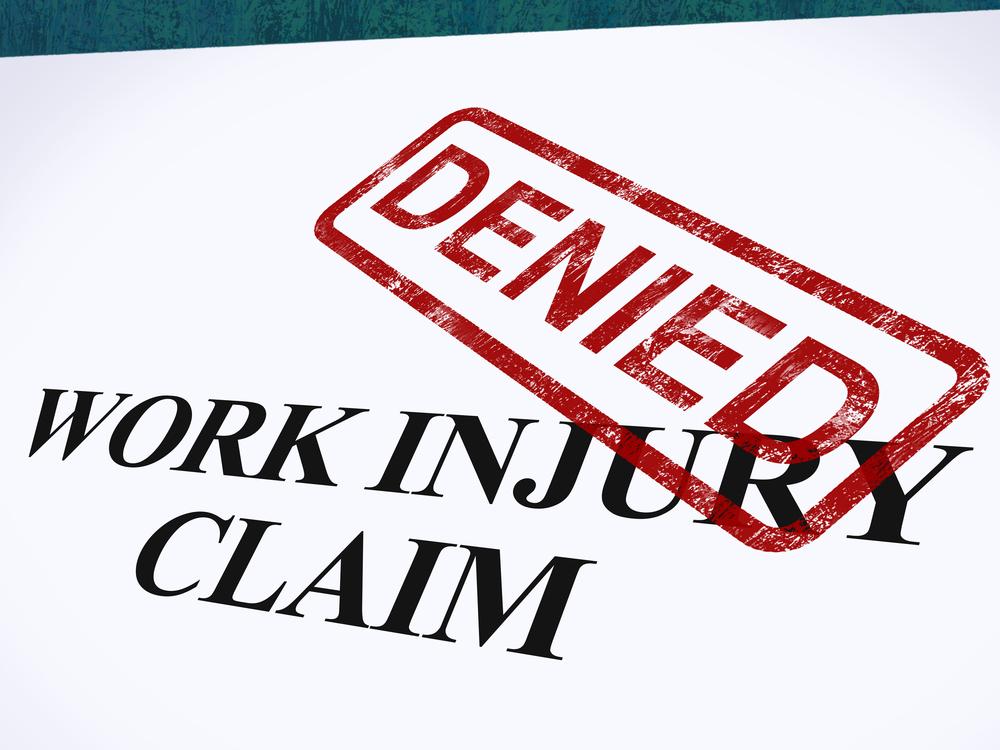work injury claim denied